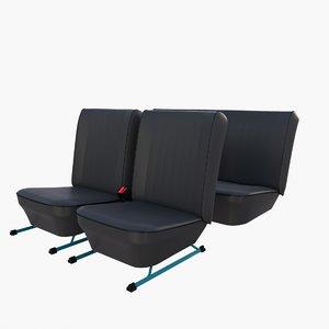 generic car seats 3D