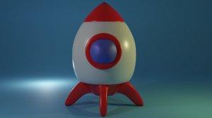 toy rocket 3D model