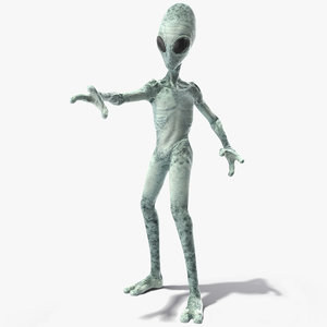 extraterrestrial alien rigged model
