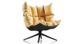 urquiola armchair husk designing 3D model
