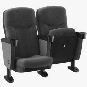 3D real theater chair model