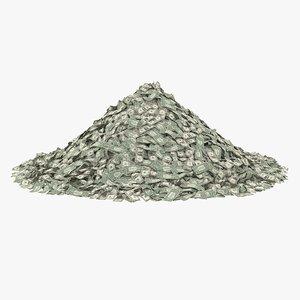 5 dollar bill pile model