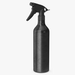 aluminum spray bottle black 3D