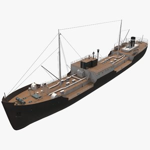 tanker ship ww2 model