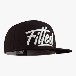 3D fitted cap