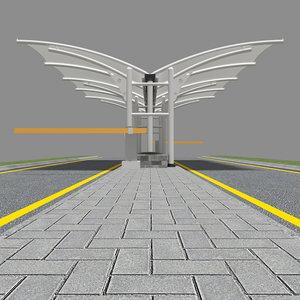 membrane canopy 1 3D model
