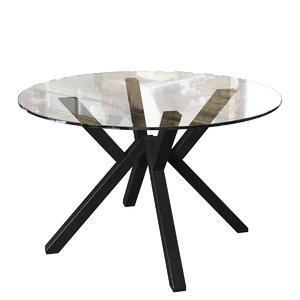 connubia cb4728-fd120 mikado dining table model