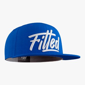 fitted cap 3D
