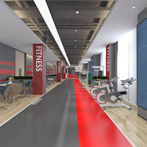 interior fitness gym model