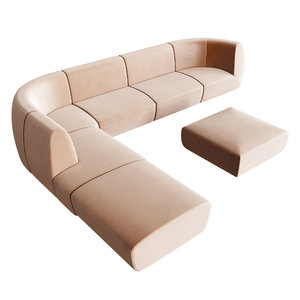 modular sofa stellar works 3D model