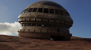 3D desert hub model
