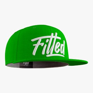 fitted cap 3D model