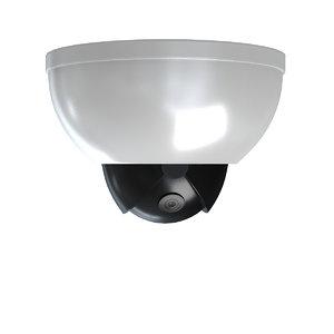 3D dome security camera model
