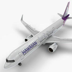 3D a321 neo hawaiian airlines