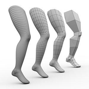 3D model leg