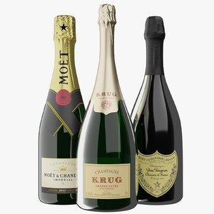 3D premium champagne perignon chandon