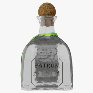 patron tequila bottle pbr 3D model