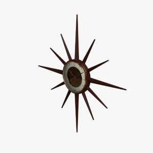 retro star clock 3D