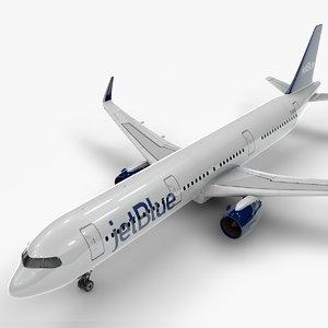 a321 neo jet blue 3D model