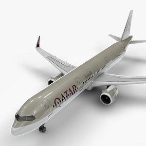 3D a321 neo qatar airways model