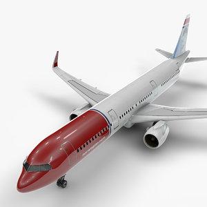 3D a321 neo norwegian air