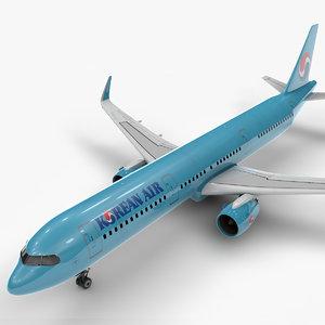 3D a321 neo korean air