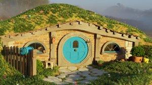 3D model hobbit scene