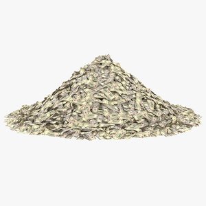 3D 5 dollar bill pile model