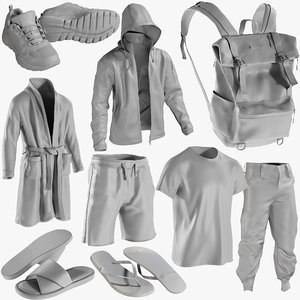 3D mesh clothing mix 5 model