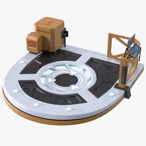 sci fi teleport platform 3D model
