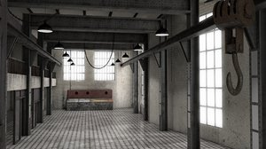 abandoned power plant industry 3D model