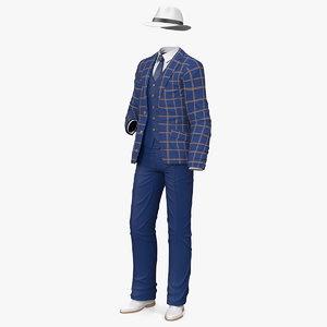3D leisure suit set model