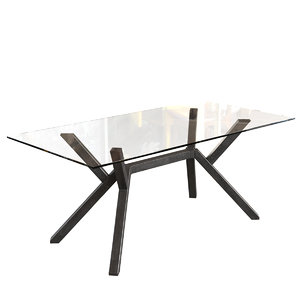 3D model connubia cb4728-fr180 mikado dining table