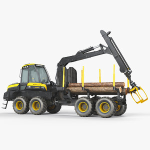 forwarder ponsse wisent 8w 3D model