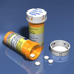 prescription pill bottle 3d model
