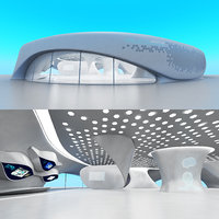 Futuristic Exbition Exterior and Interior