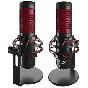quadcast microphone desktop 3D
