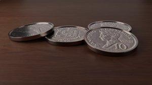 old centavos coin phillipine 3D model