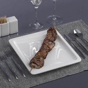 3D scanned food model