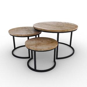 set wooden coffee model