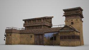 ancient inn 3D model