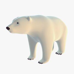 stylized polar bear 3D model