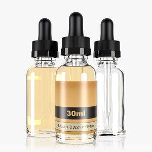 3D 30ml dropper bottle type2 model