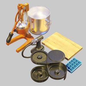 bartender tools set 05 3D model