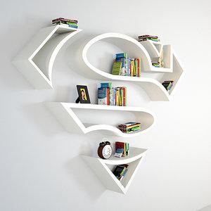 book bookshelf 3D