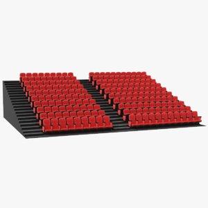 3D real theater bleacher chairs