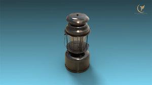 3D low-poly kerosene lamp model