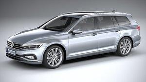 3D volkswagen passat 2020 model