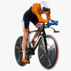 cyclist animation 3D model