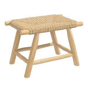 stool porto seagrass 3D model